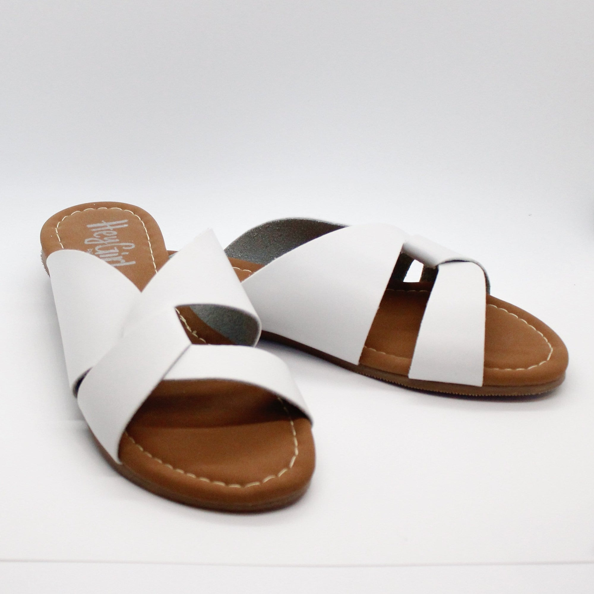 White Scuba Slip On Sandal