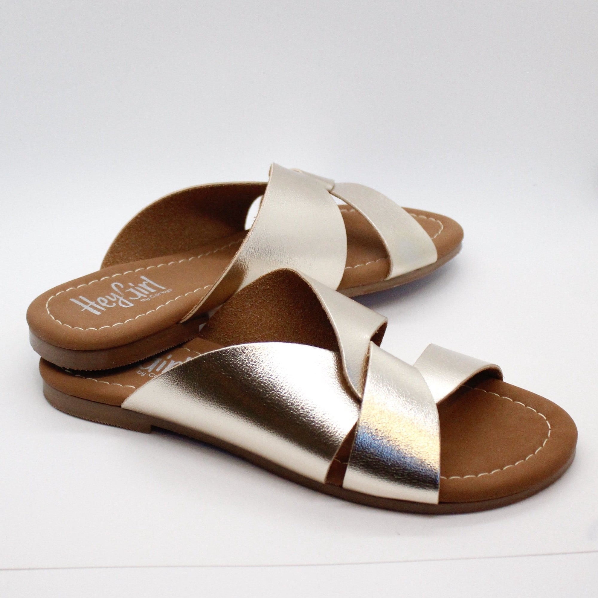 Gold Scuba Slip On Sandal