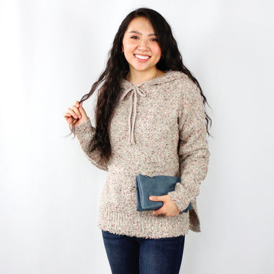 Hooded Speckle Sweater