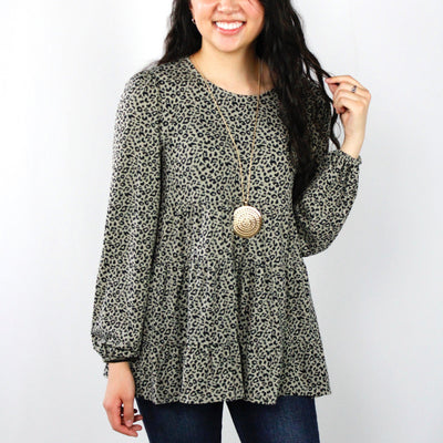 Olive Mix Blouse