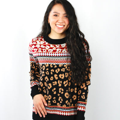 Multi Animal Print Butter Sweater