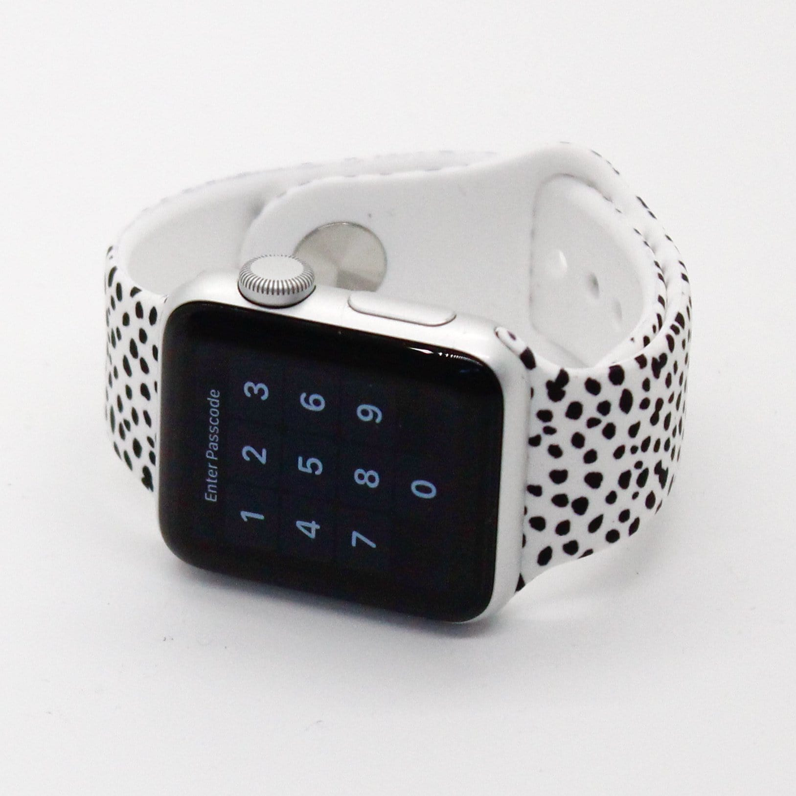 Dalmatian Print Silicone Watch Band