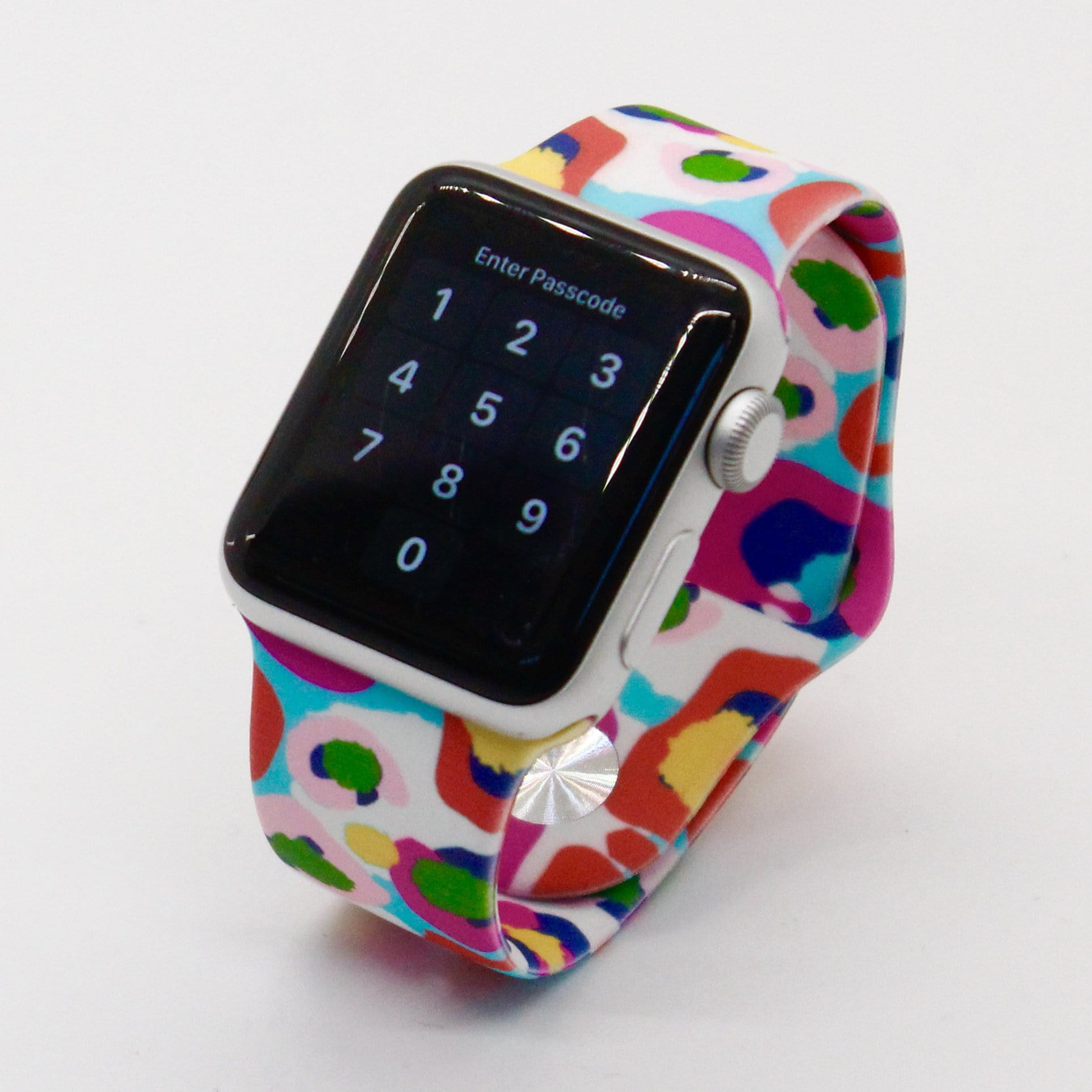Multi Color Splash Silicone Watch Band