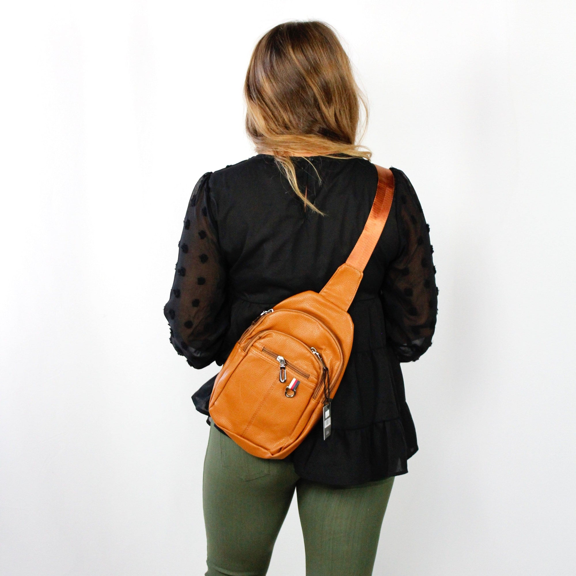 Leather Crossbody Sling Shoulder Bag