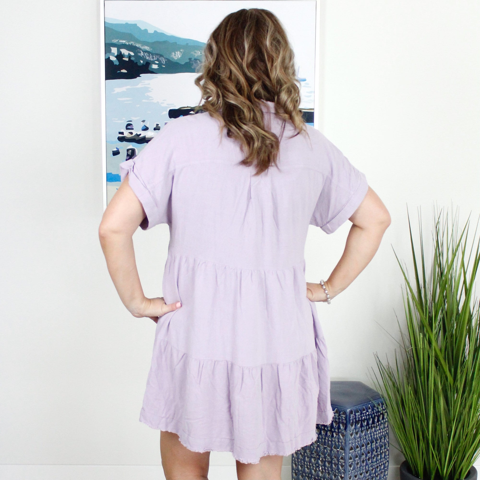 Button Tiered Dress