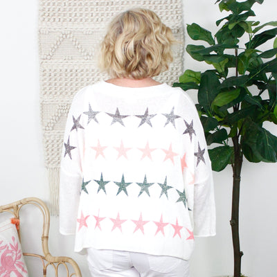 Ivory Star Spangled Stars Top