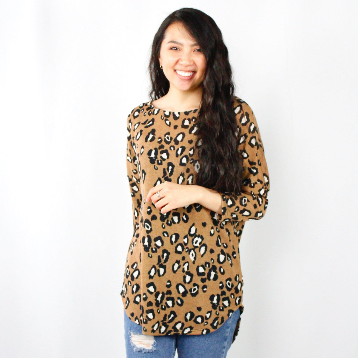Knit Leopard Light Sweater