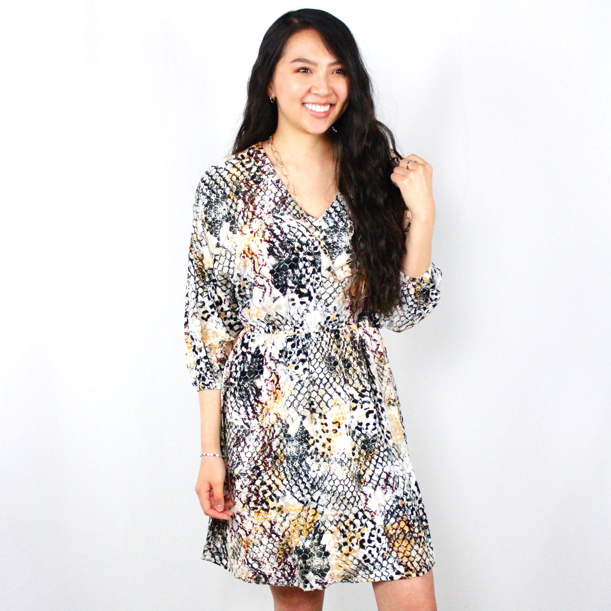 Multicolor Snakeskin Dress
