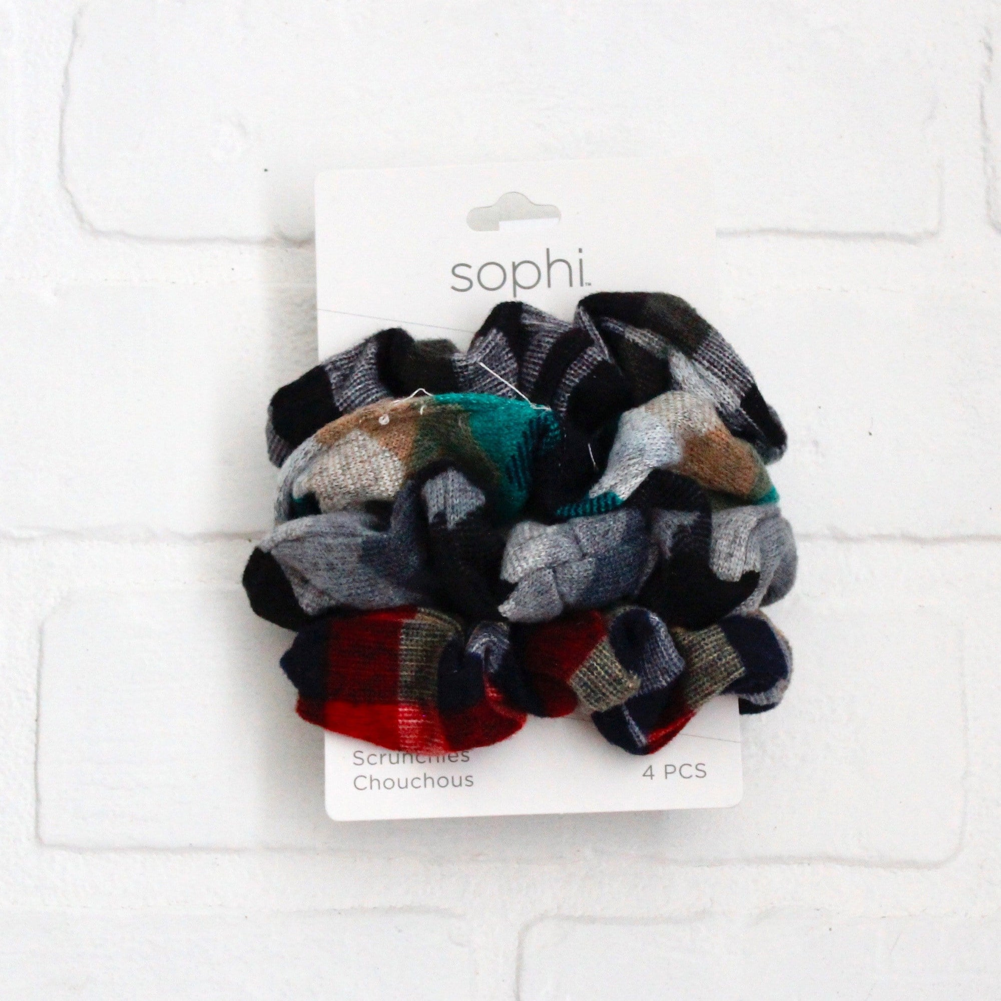 4PK Flannel Scrunchies
