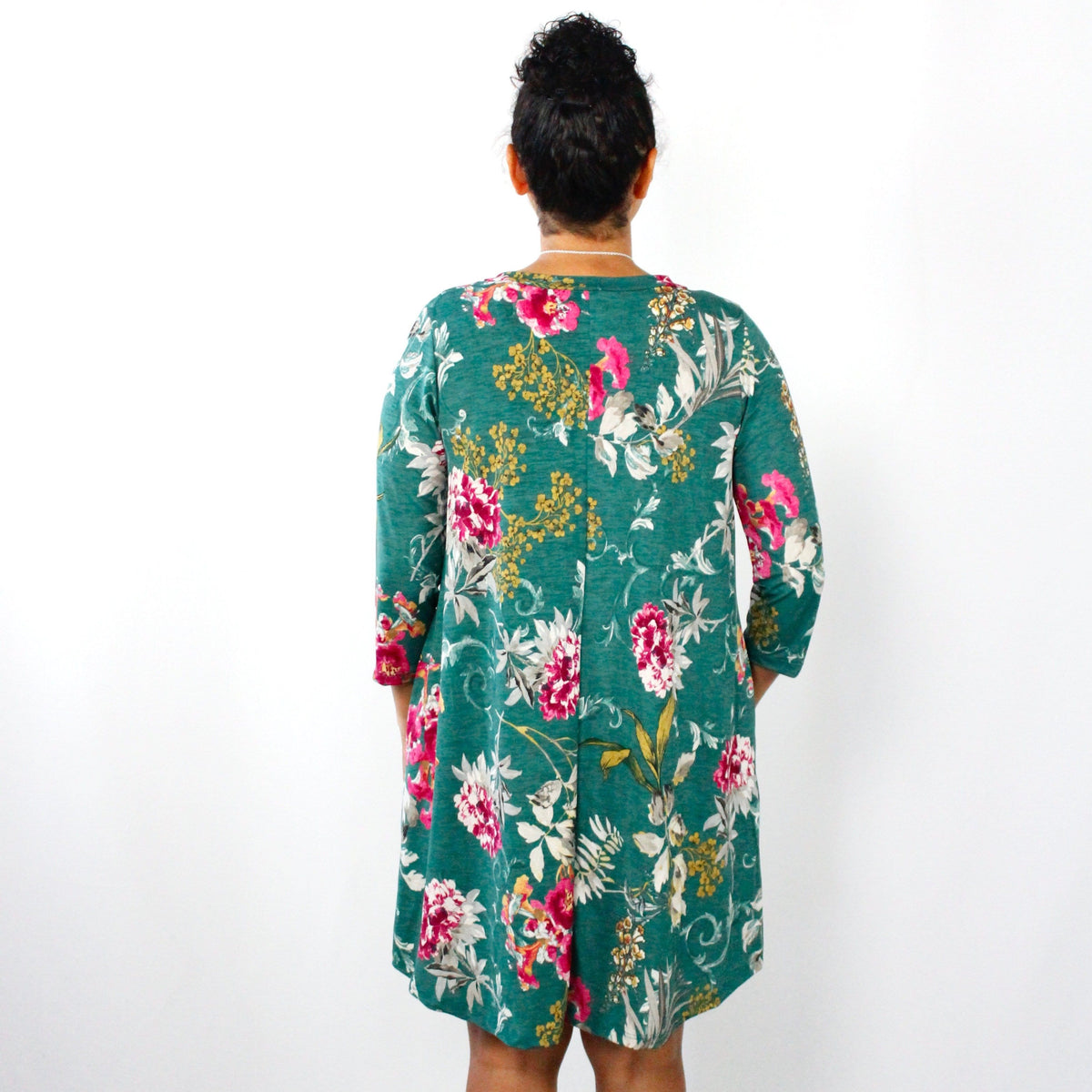 Jade Floral Swing Dress