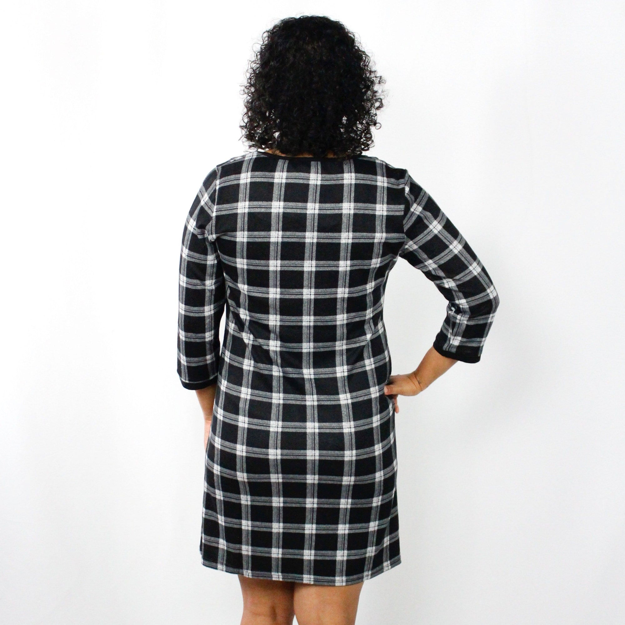 Black Plaid Pocket Tunic