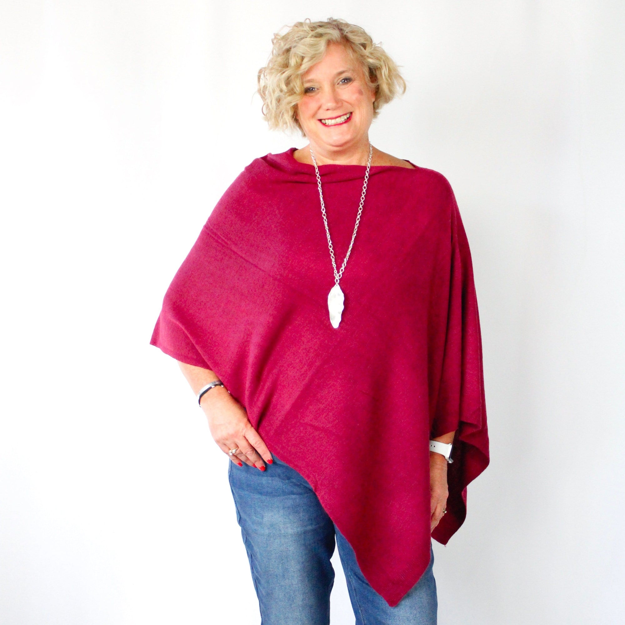 Classic Knit Poncho