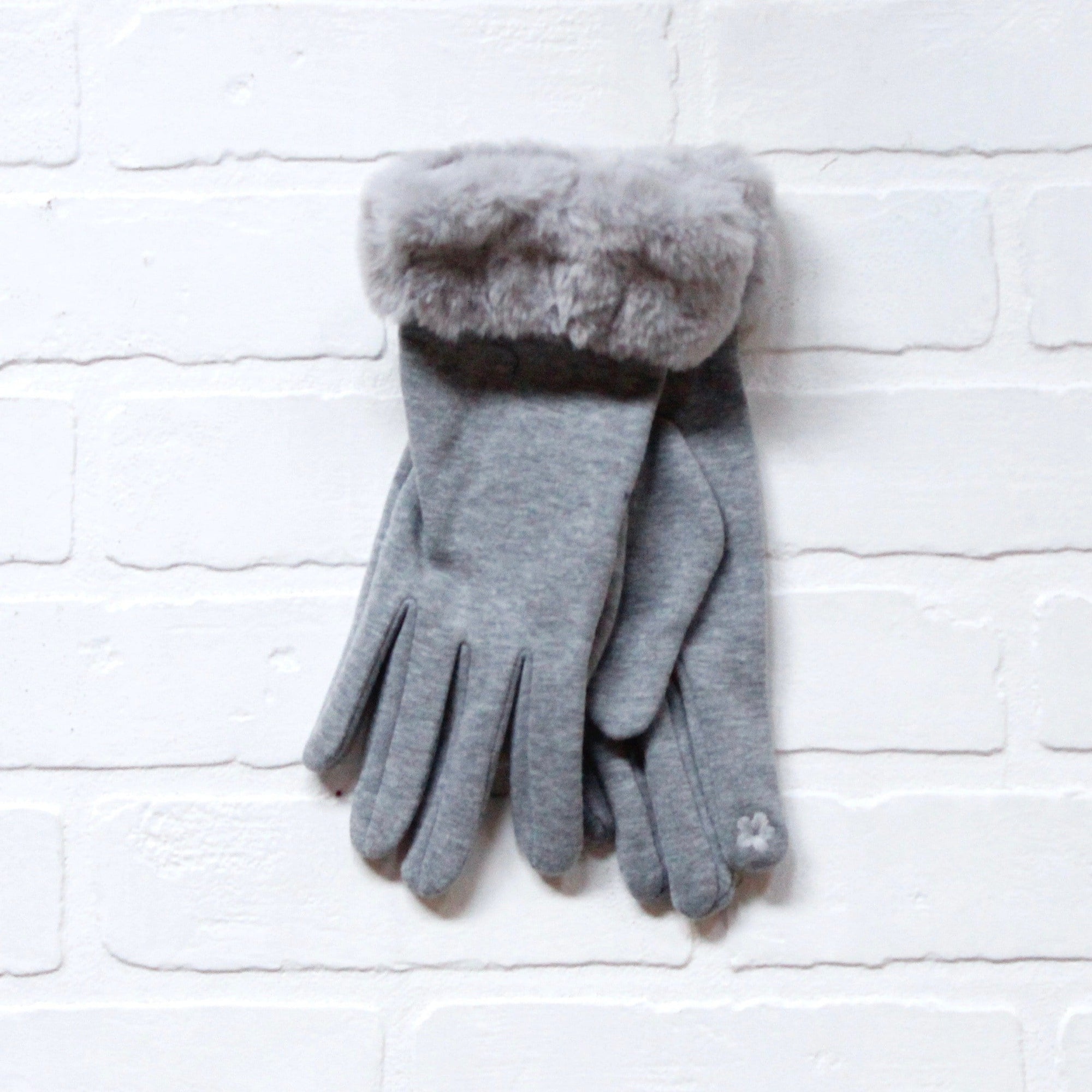 Faux Fur Wrist Gloves
