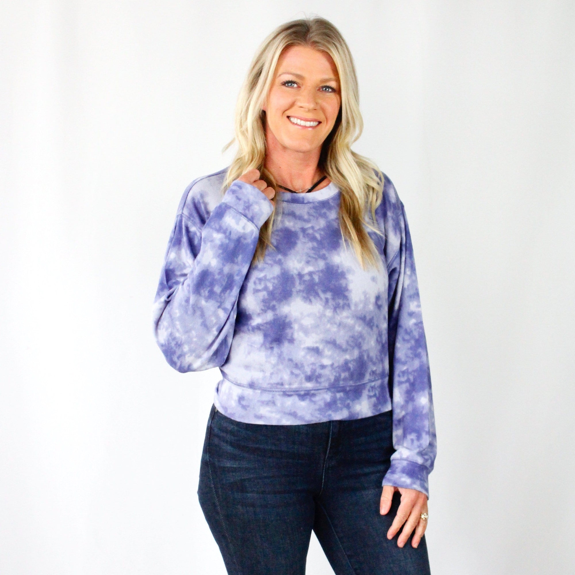 Tie Dye Fleece Top