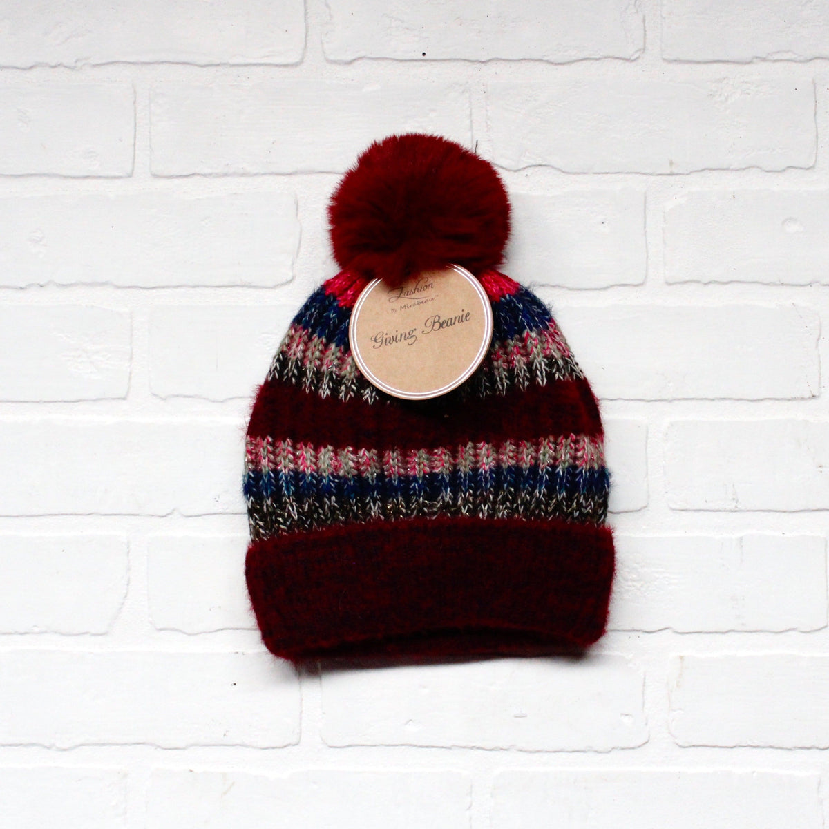 Multi Color Wool Blend Giving Beanie