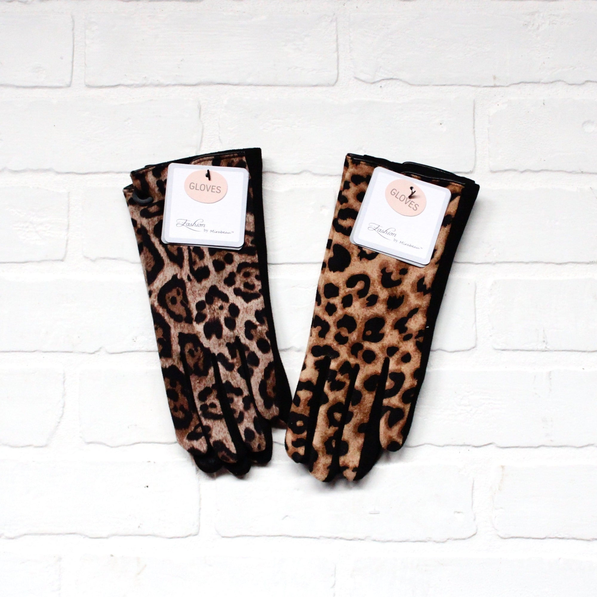 Leopard Print Fashion Gloves