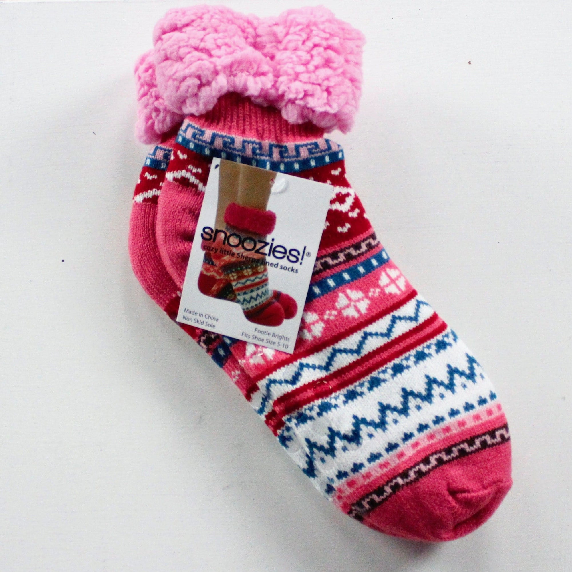 Bright Sherpa Lined Socks