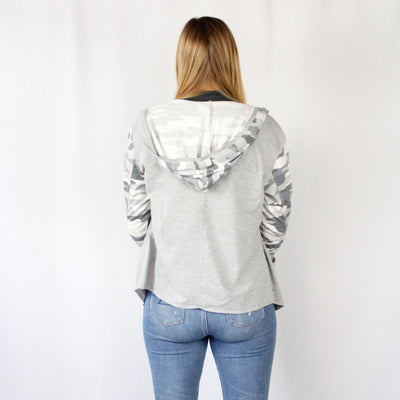 Hooded Sweatshirt Cardigan