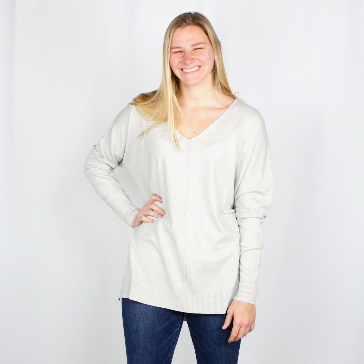 Vneck Butter Sweater