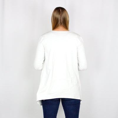 White Basic Cardigan