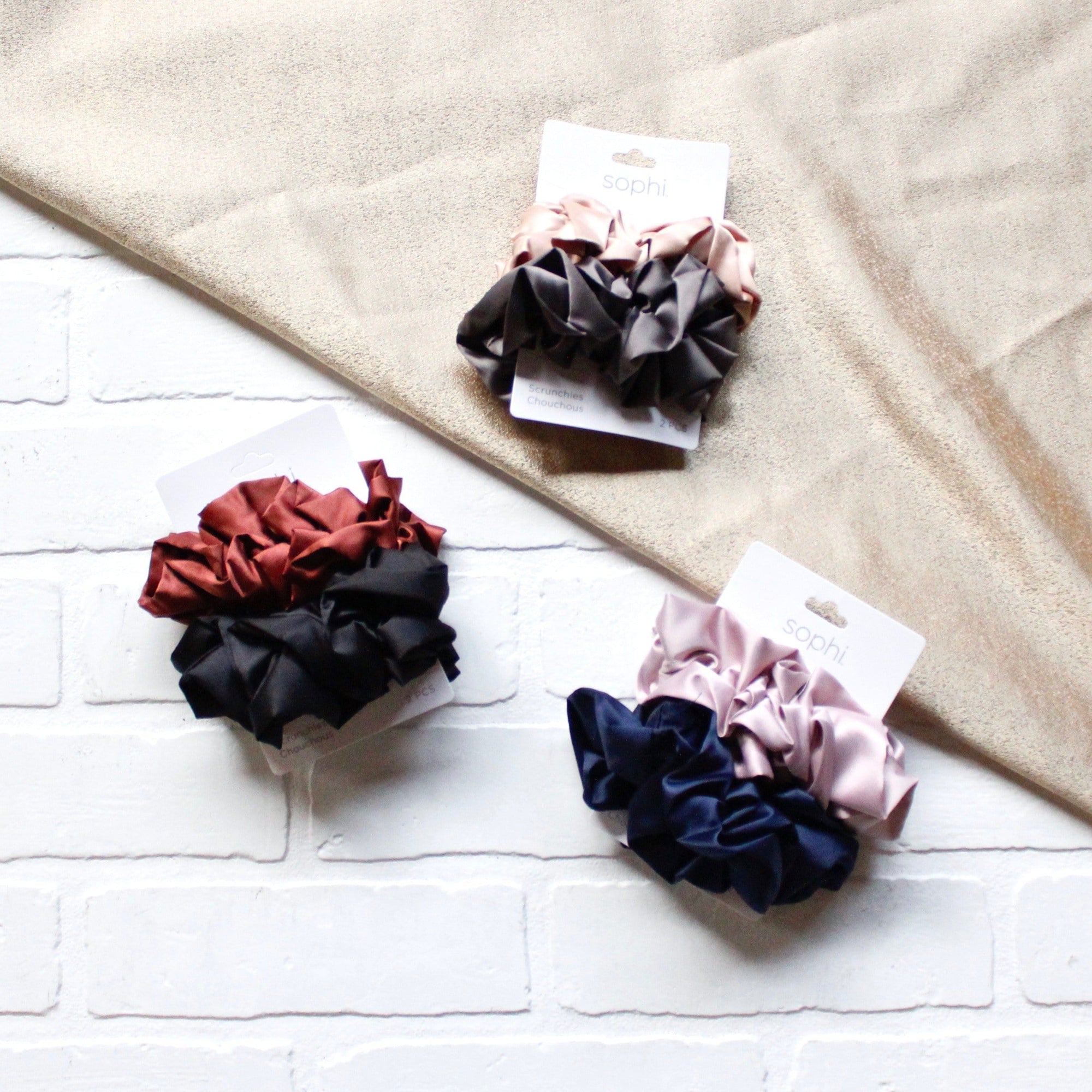 Double Ruffle Scrunchies 2pk