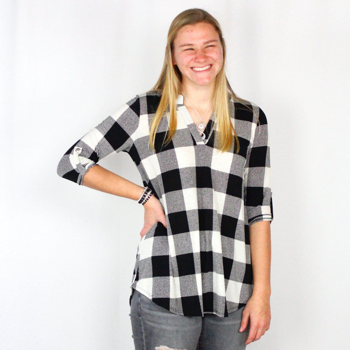 Buffalo Plaid Gabby Blouse