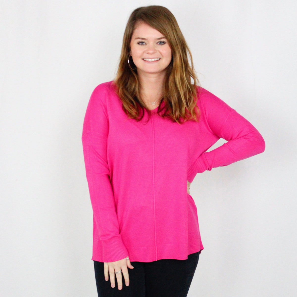 Winter Bright Vneck Sweater