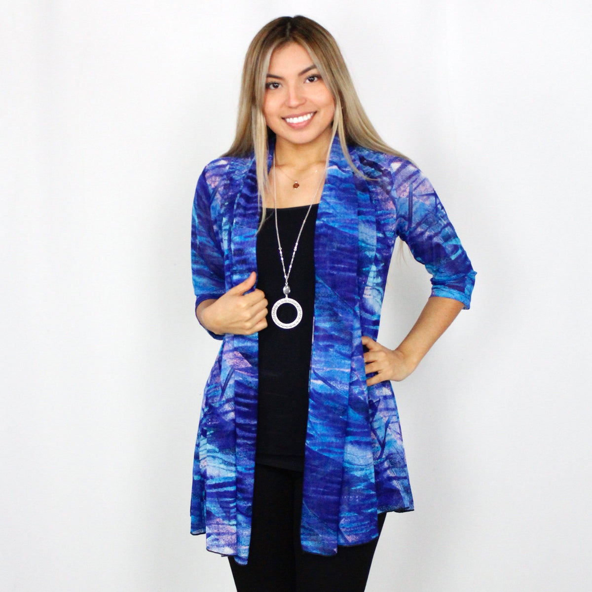 Royal Waves Mesh Cardigan