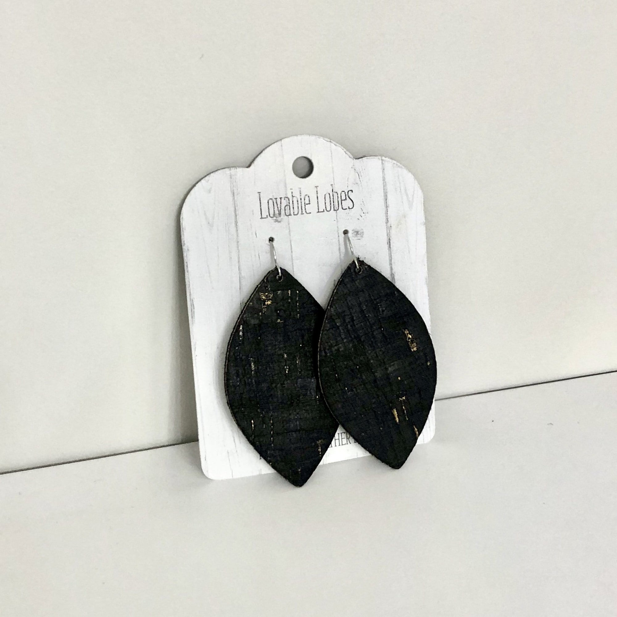 Lovable Lobes Petal Leather Earring