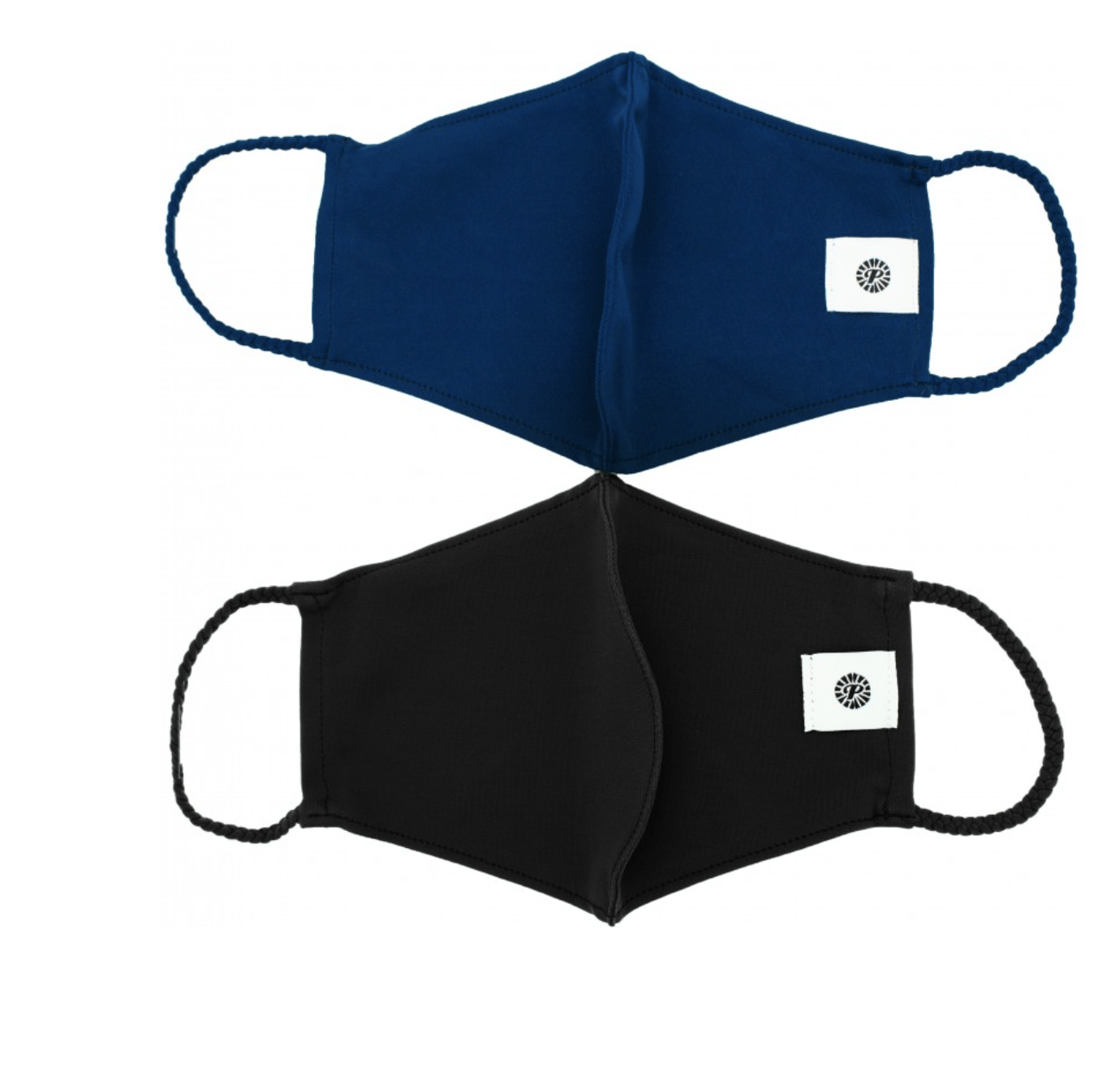 Black & Navy Solid Pom Face Covering 2 Pack