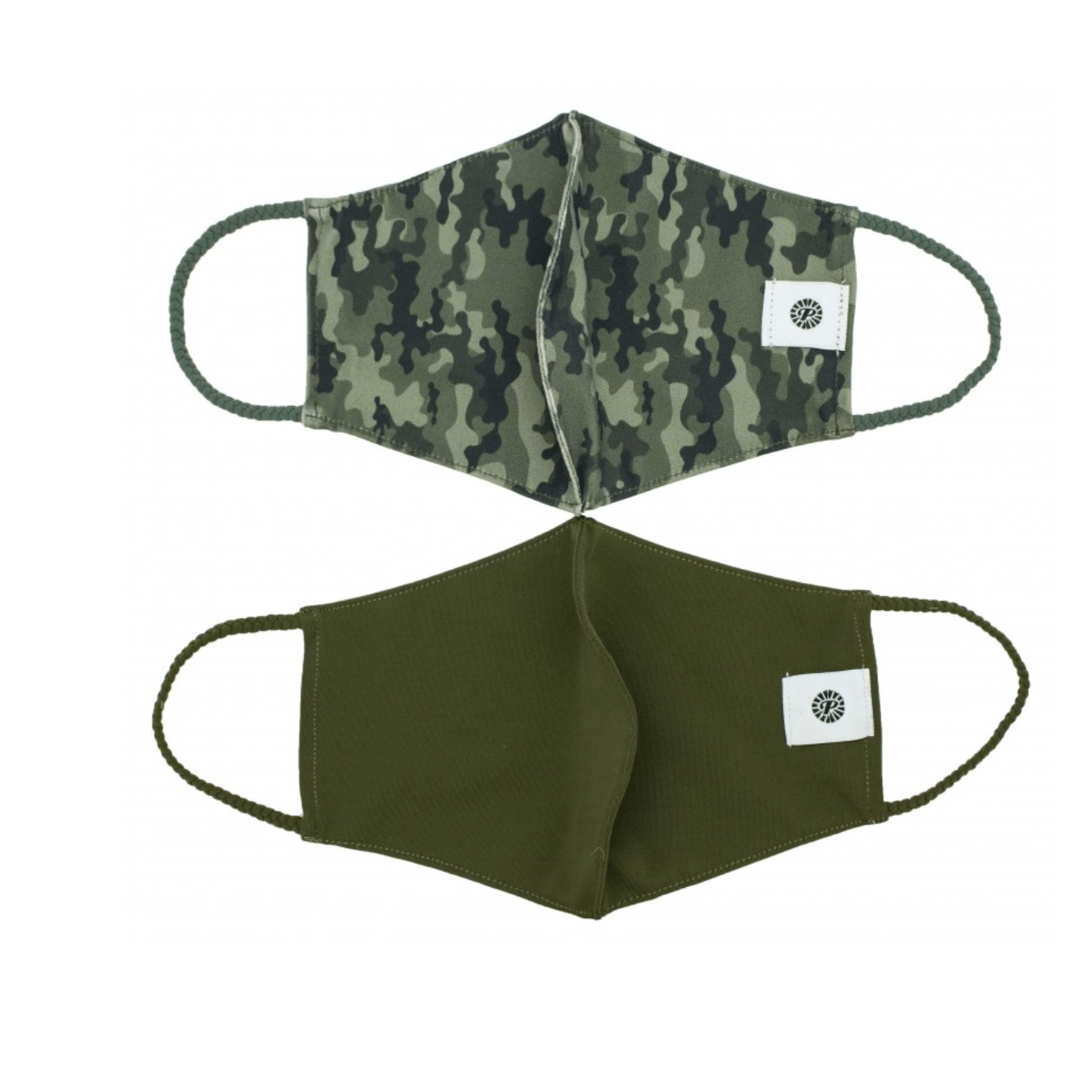 Camo Pom Face Covering 2 Pack