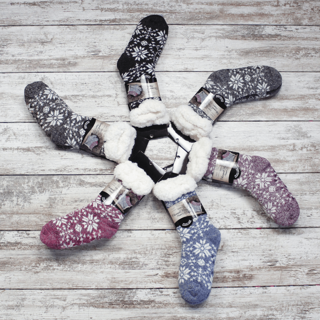 Snowflake Knit Thermal Slipper Sock