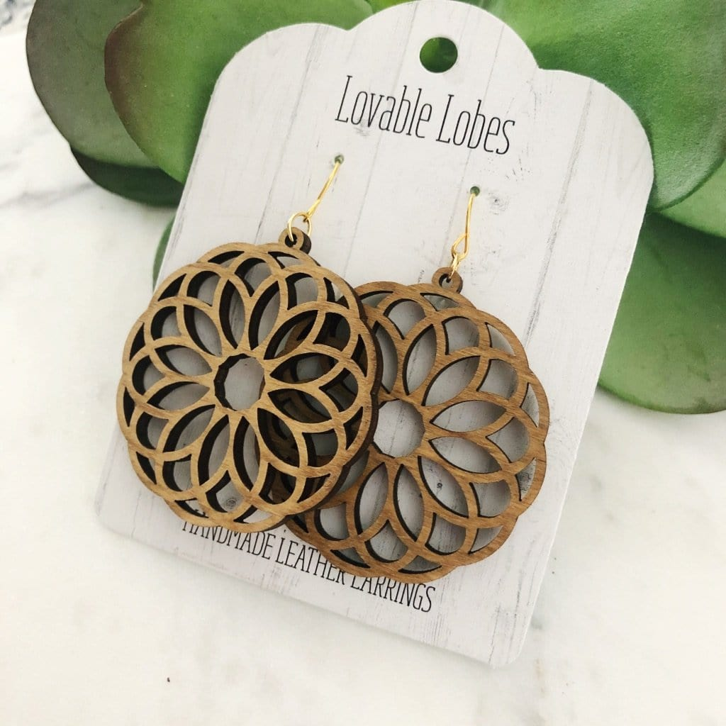 Lovable Lobes Wood Floral Med