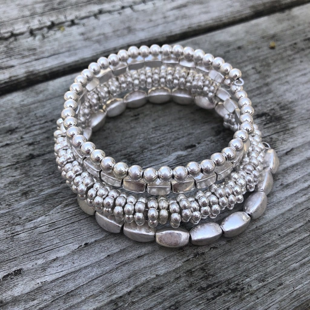 Silver Layer Wired Bracelet