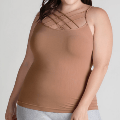 Nikibiki Extended Size Criss Cross Tank - Fall Collection