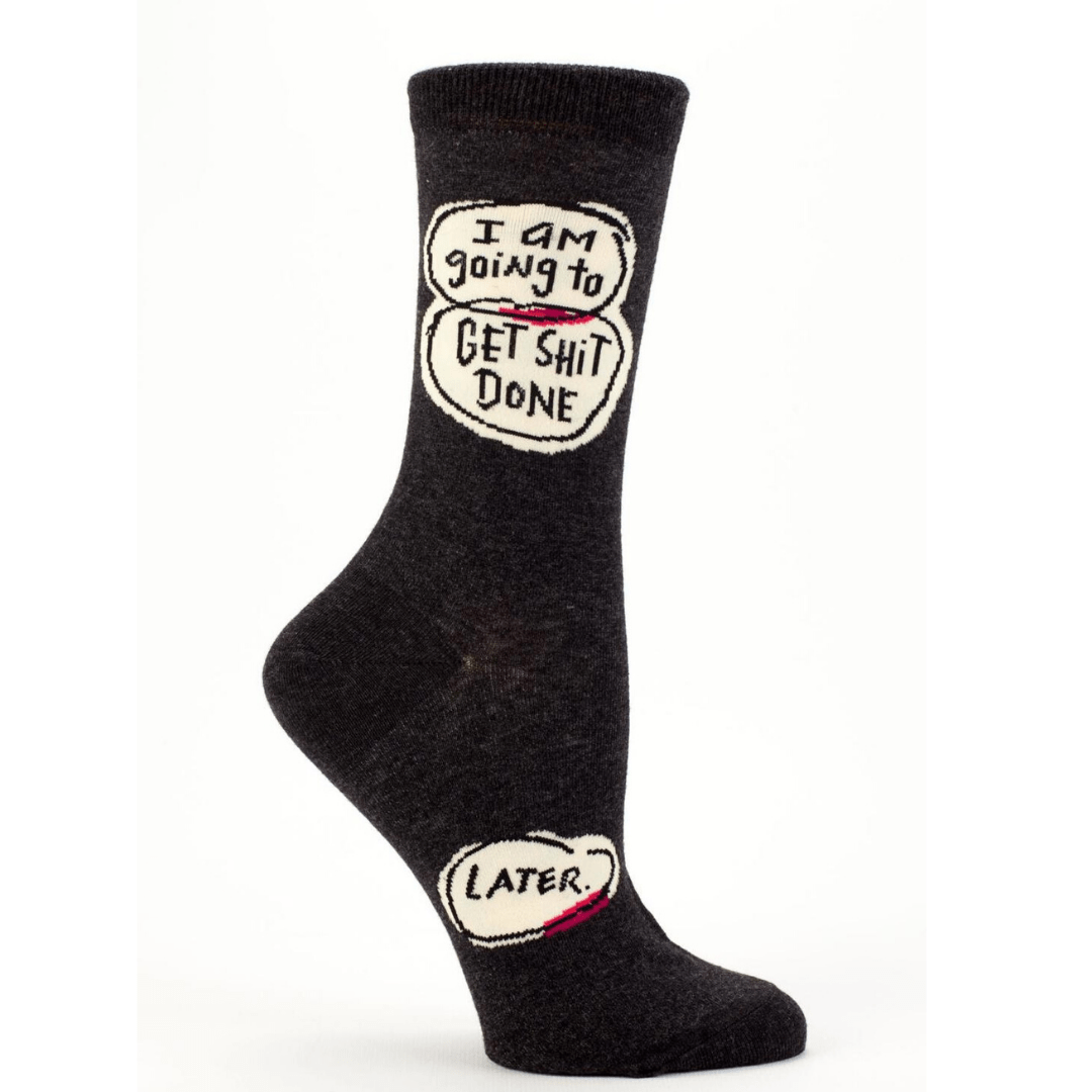 Get *Stuff Done, Later Women's Crew Sock