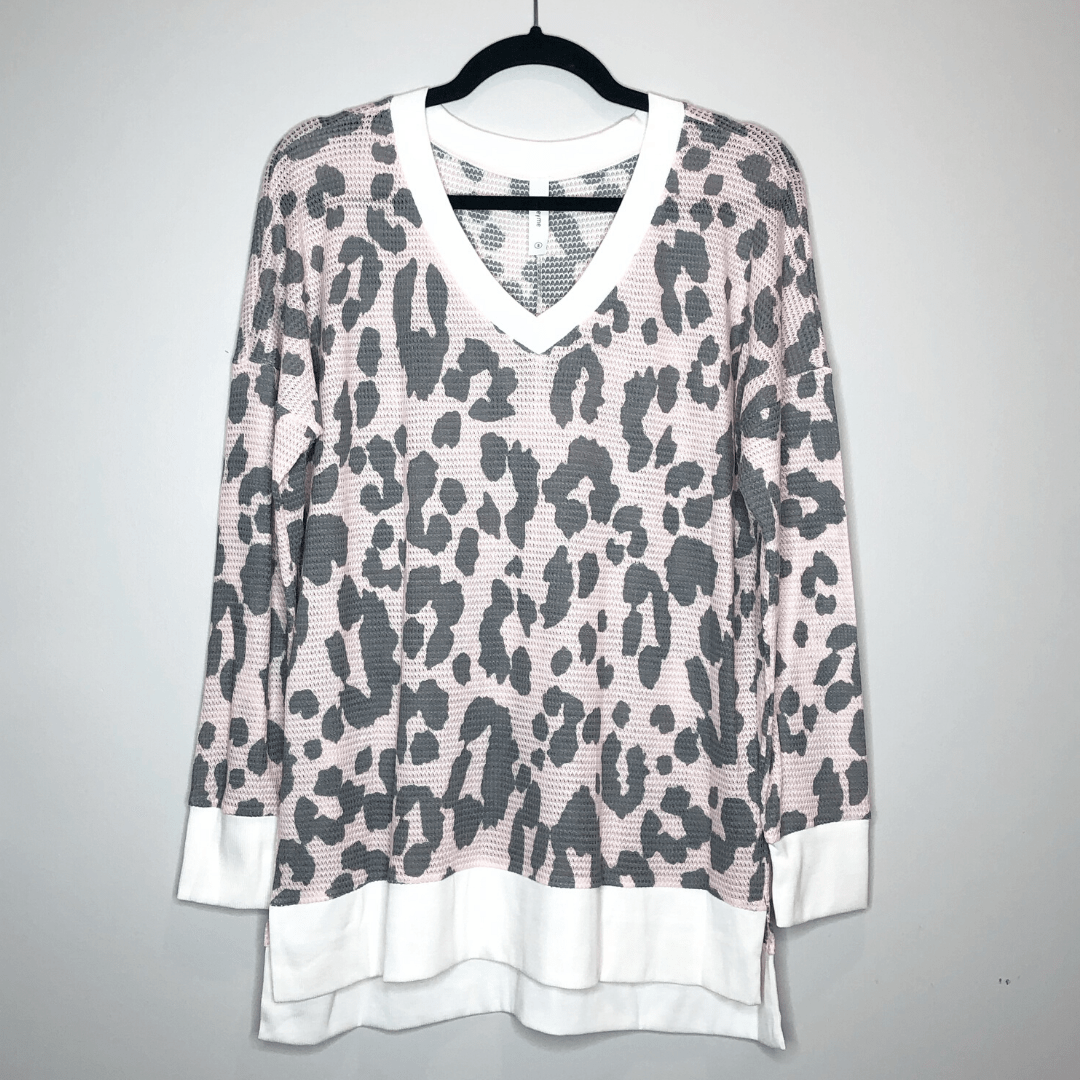 Rose Leopard Thermal Top