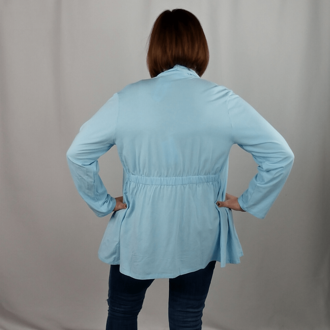 Light Blue 2 in 1 Knit Jacket