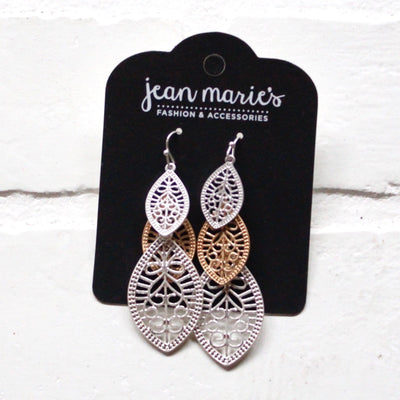Gold/Silver Mix Earring