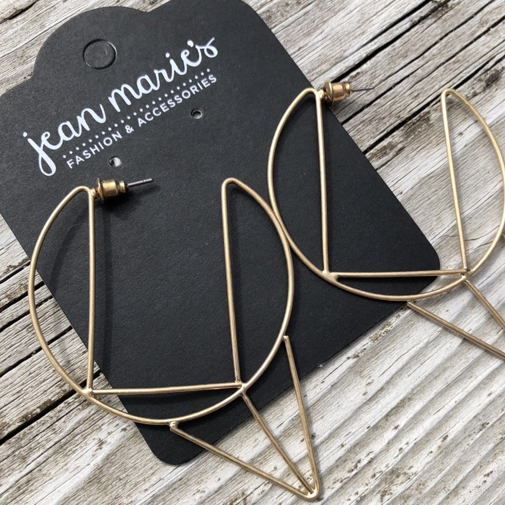 Modern Mix Gold Earrings