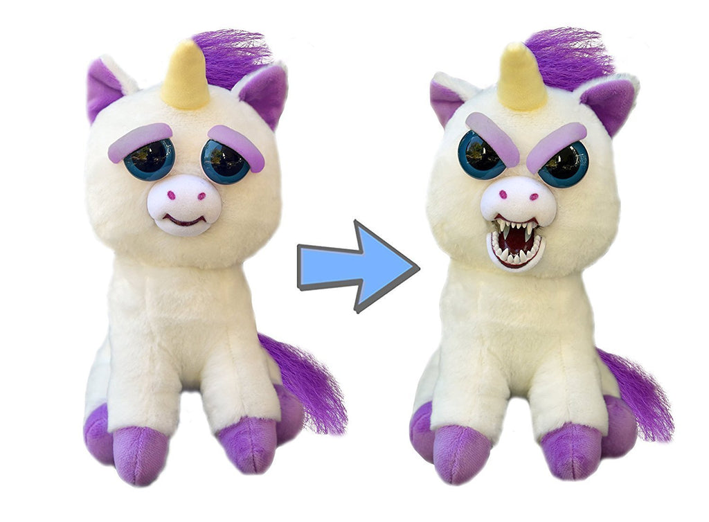 Cute Stuffed Pet Unicorn that Turns into an Angry Monster with a Squeeze