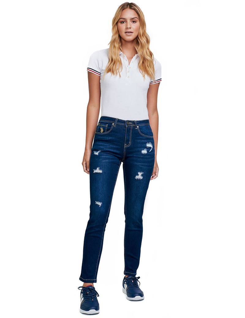Jeans Medium-Rise Fit para Dama LANE-48-223