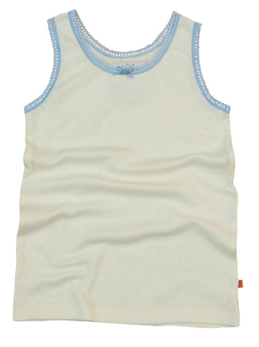 Ashton PJ Lounge vest top in cream for girls age 8-12 years