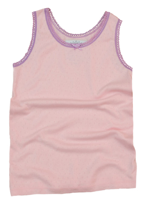 Teen Lounge vest top in pink for girls age 8-12 years
