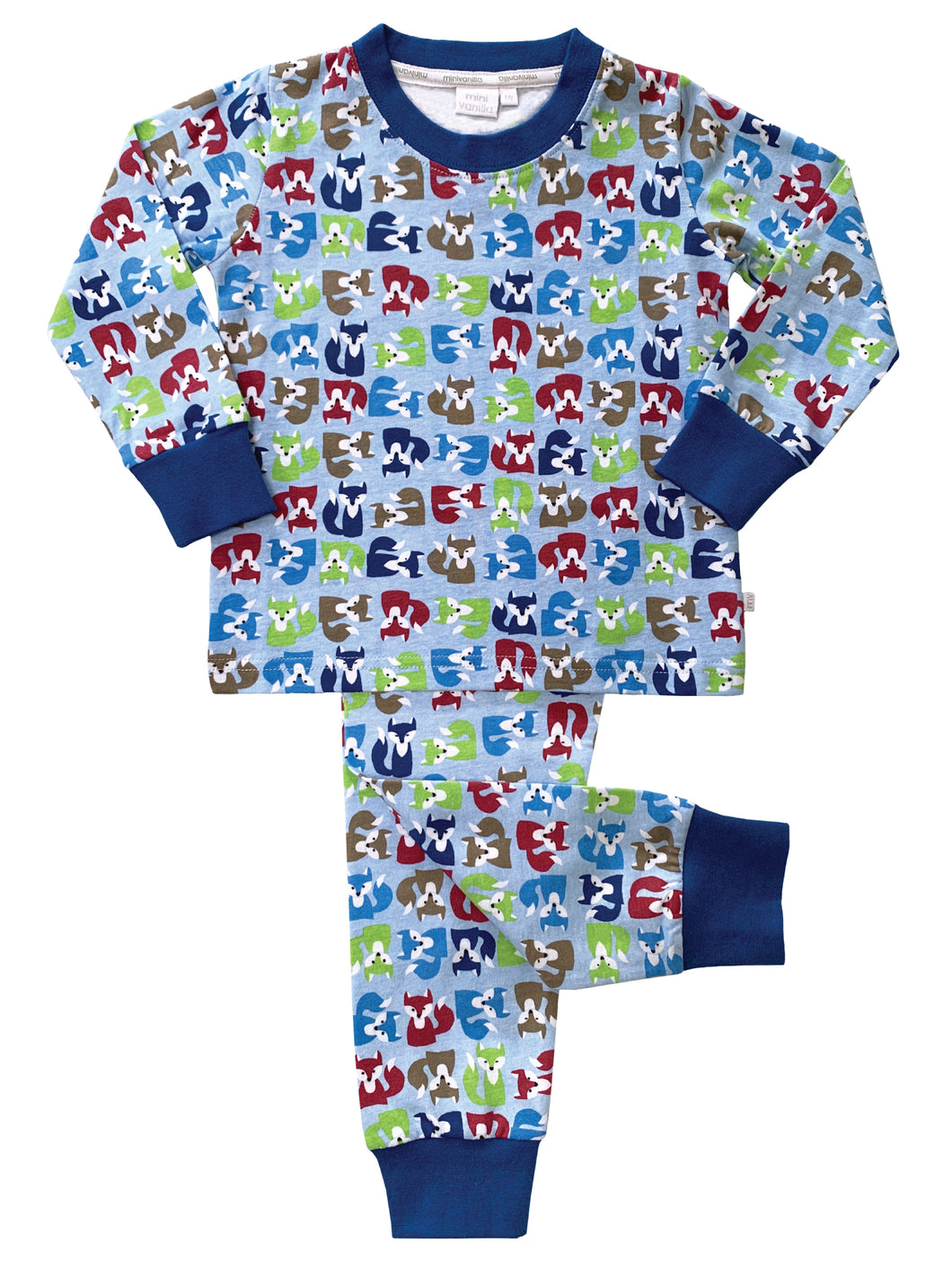 Fox Print Slim Fit Pyjamas