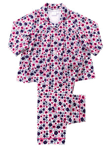 Ditsy Floral Print Girls Traditional Pyjamas