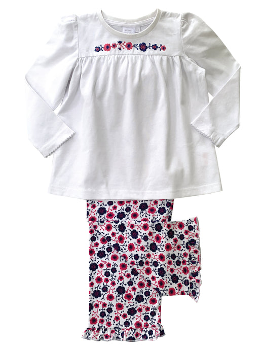 Girls Floral Cotton Pyjamas