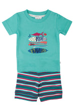 Load image into Gallery viewer, Ride the waves! Boys short summer PJ for ages 1-8 years