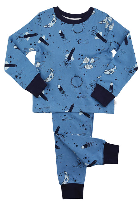 Space Print Slim Fit Pyjamas for 1 to 10 years - MV 1327
