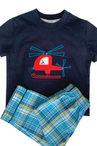 Red Helicopter Pyjama for boys ages 1-10 years